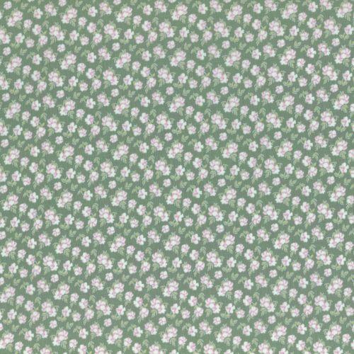 Lecien Fabric ~ La Conner ~ Pansies in Evergreen Metallic
