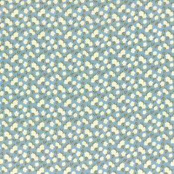 Lecien Fabric ~ La Conner ~ Pansies in Rain Metallic