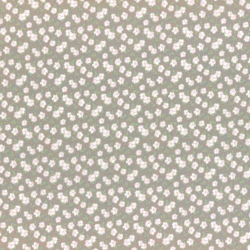 Lecien Fabric ~ La Conner ~ Pansies in Wicker Metallic