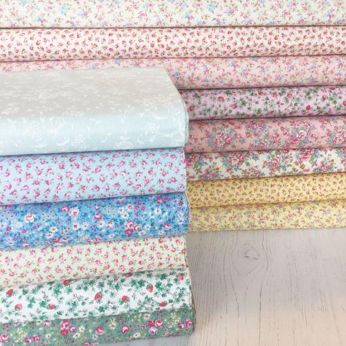 Lecien Fabric ~ Fat Quarter Bundle ~ Flower Bouquet
