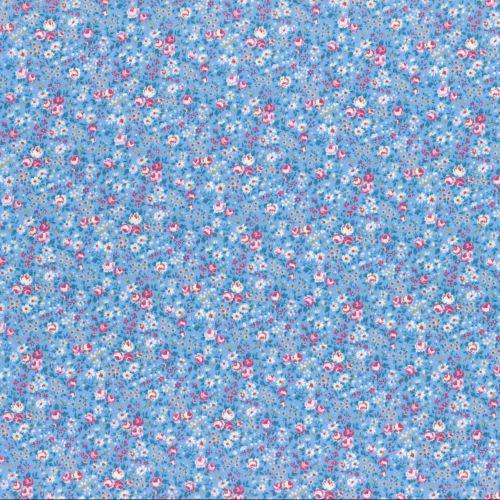 Lecien Fabric ~ Flower Bouquet ~ Floral Blue