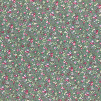 Lecien Fabric ~ Flower Bouquet ~ Floral Green
