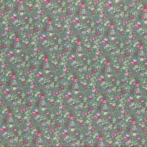 Lecien Fabric ~ Flower Bouquet ~ Floral Green