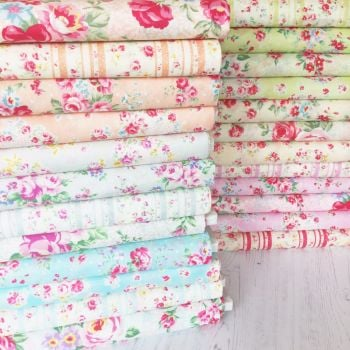 Lecien Fabric ~ Fat Quarter Bundle ~ Princess Rose