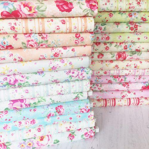 Lecien Fabric ~ Fat Quarter Bundle ~ Princess Rose