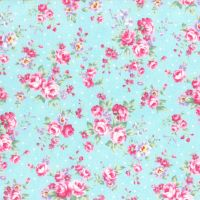 Lecien Fabric ~ Princess Rose ~ Dottie Rose Blue