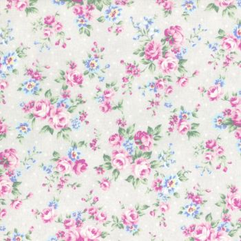 Lecien Fabric ~ Princess Rose ~ Dottie Rose Grey