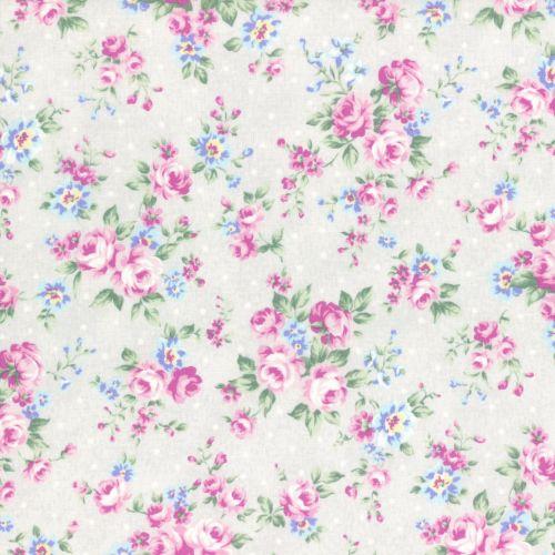 Lecien Fabric ~ Princess Rose ~ Dottie Rose Grey