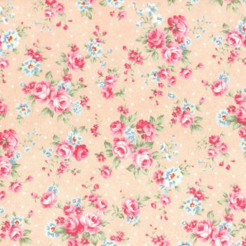 Lecien Fabric ~ Princess Rose ~ Dottie Rose Peach