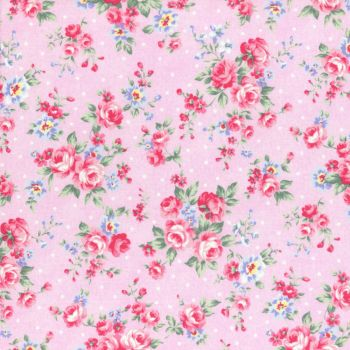 Lecien Fabric ~ Princess Rose ~ Dottie Rose Pink