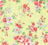 Lecien Fabric ~ Princess Rose ~ Dottie Rose Green