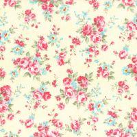 Lecien Fabric ~ Princess Rose ~ Dottie Rose Yellow