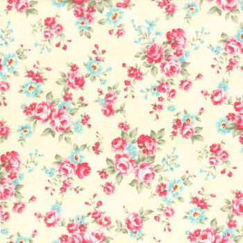 Lecien Fabric ~ Princess Rose ~ Dottie Rose Yellow