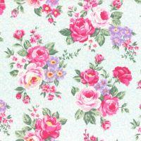 Lecien Fabric ~ Princess Rose ~ Floral Blue