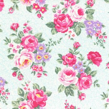 Lecien Fabric ~ Princess Rose ~ Floral Blue