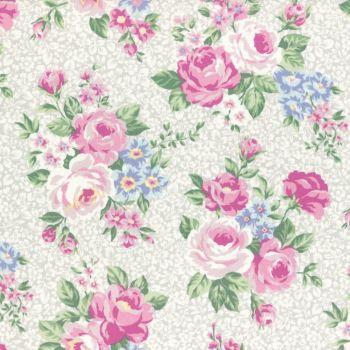 Lecien Fabric ~ Princess Rose ~ Floral Grey
