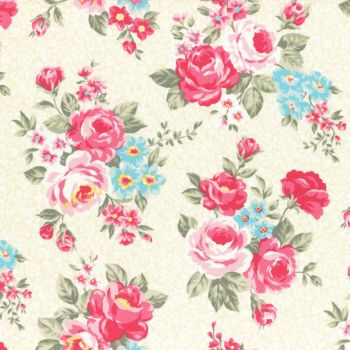 Lecien Fabric ~ Princess Rose ~ Floral in Yellow