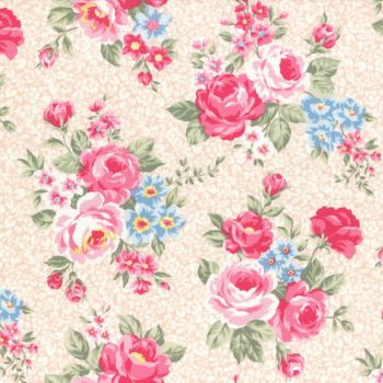 Lecien Fabric ~ Princess Rose ~ Floral Peach