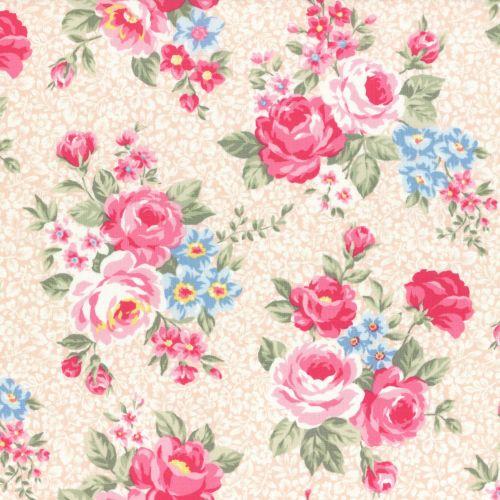 Lecien Fabric ~ Princess Rose ~ Floral Peach