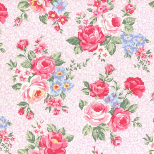 Lecien Fabric ~ Princess Rose ~ Floral Pink