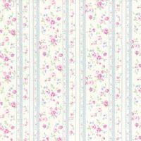 Lecien Fabric ~ Princess Rose ~ Floral Stripe Grey