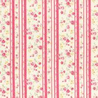 Lecien Fabric ~ Princess Rose ~ Floral Stripe Rose