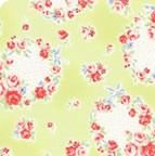 Lecien Fabric ~ Princess Rose ~ Floral Wreath Green