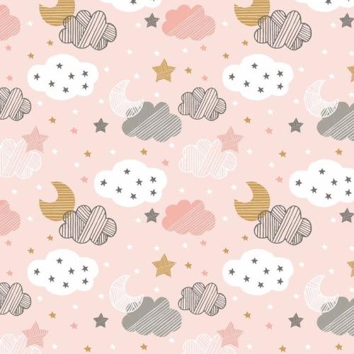 Art Gallery Fabrics ~ Sweet Dream ~ Starry Night Pink