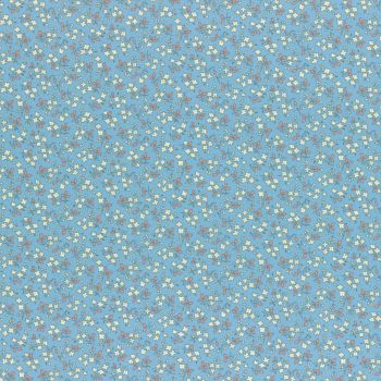 Lecien Fabric ~ Retro 30's Smile Child Spring 2017 ~ Ditsy Floral Blue
