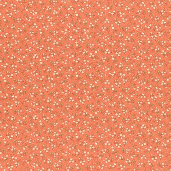Lecien Fabric ~ Retro 30's Smile Child Spring 2017 ~ Ditsy Floral Orange