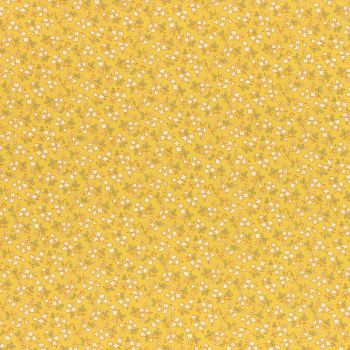 Lecien Fabric ~ Retro 30's Smile Child Spring 2017 ~ Ditsy Floral Yellow