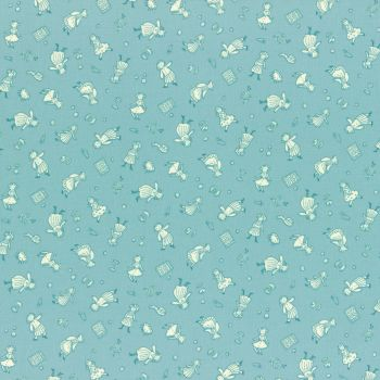 Lecien Fabric ~ Retro 30's Smile Child Spring 2017 ~ Dolls and Notions Teal