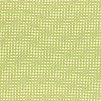 Lecien Fabric ~ Retro 30's Smile Child Spring 2017 ~ Dotty Heart Green