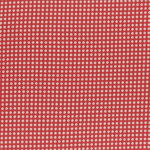 Lecien Fabric ~ Retro 30's Smile Child Spring 2017 ~ Dotty Heart Red