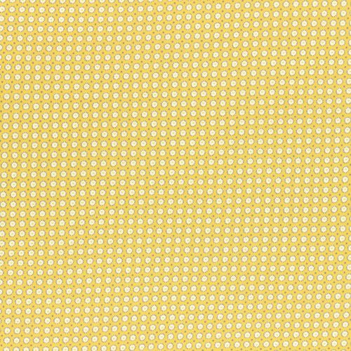 Lecien Fabric ~ Retro 30's Smile Child Spring 2017 ~ Dotty Heart Yellow