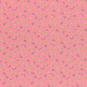 Lecien Fabric ~ Retro 30's Smile Child Spring 2017 ~ Flowers and Butterflies Pink