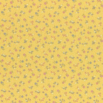 Lecien Fabric ~ Retro 30's Smile Child Spring 2017 ~ Flowers and Butterflies Yellow