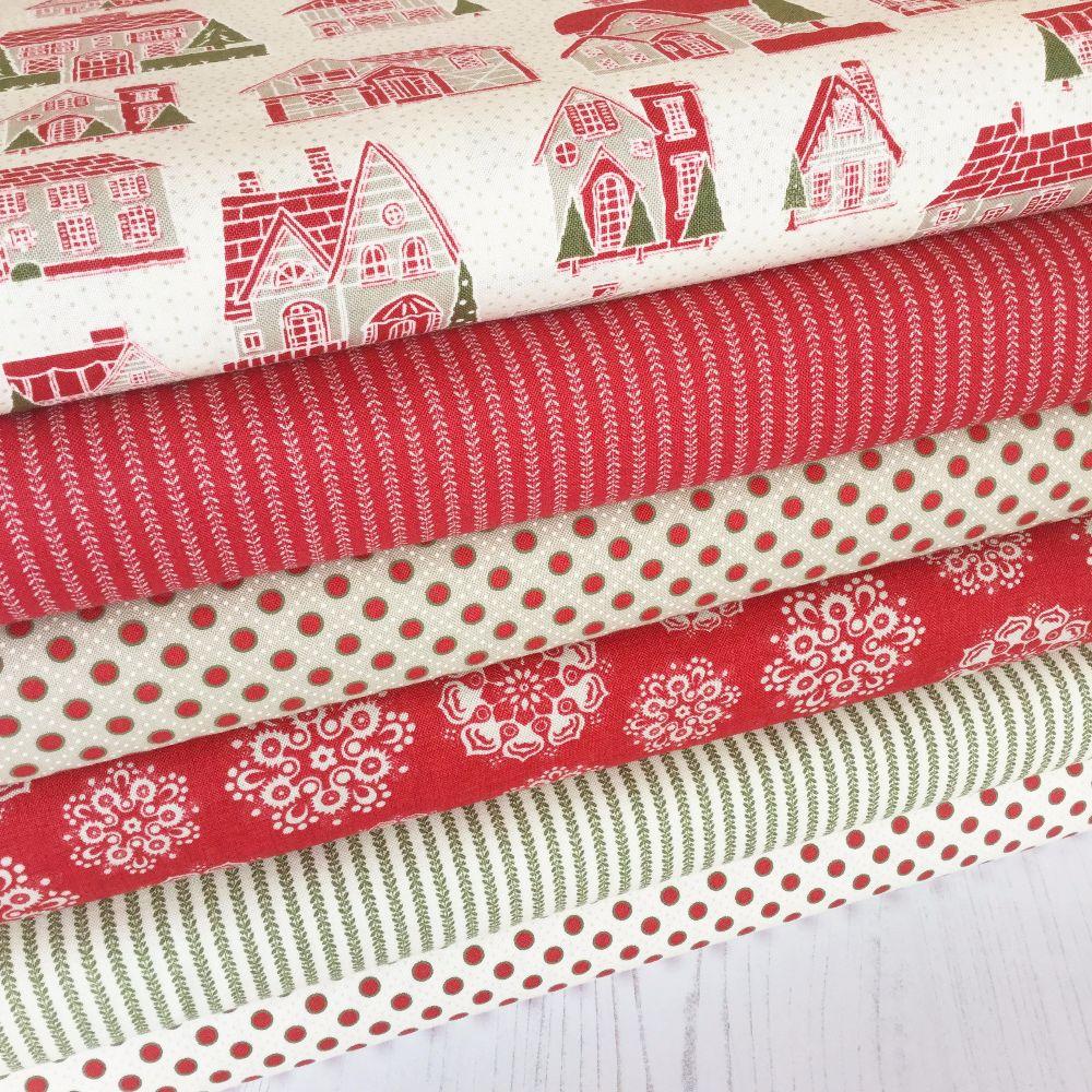 Moda Fabric ~ Petites Maison de Noel