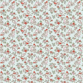 Penny Rose Fabrics ~ Little Dolly ~ Dolly Birds Blue