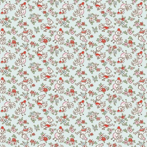 Penny Rose Fabrics ~ Little Dolly ~ Dolly Birds Blue