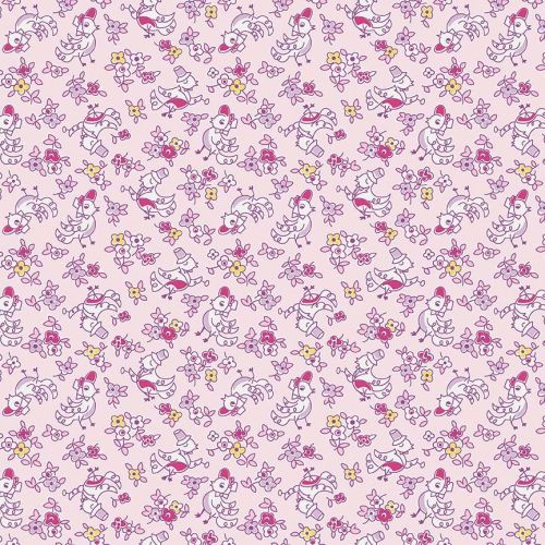 Penny Rose Fabrics ~ Little Dolly ~ Dolly Birds Pink