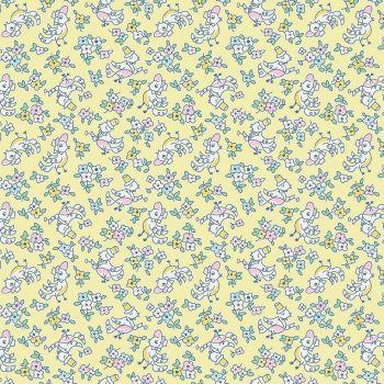Penny Rose Fabrics ~ Little Dolly ~ Dolly Birds Yellow