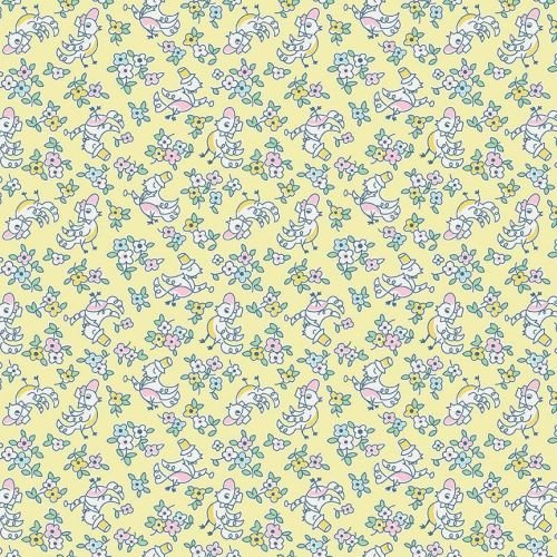 Penny Rose Fabrics ~ Little Dolly ~ Dolly Birds Yellow