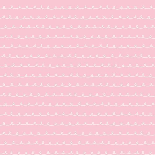Penny Rose Fabrics ~ Little Dolly ~ Dolly Curly Pink