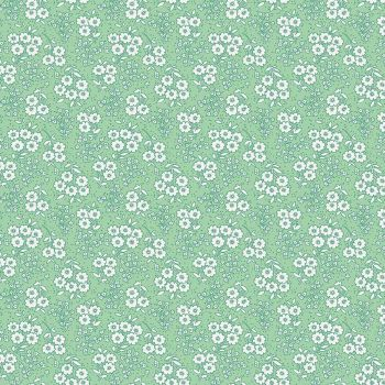Penny Rose Fabrics ~ Little Dolly ~ Dolly Flowers Green