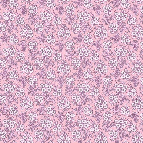 Penny Rose Fabrics ~ Little Dolly ~ Dolly Flowers Pink