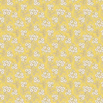 Penny Rose Fabrics ~ Little Dolly ~ Dolly Flowers Yellow
