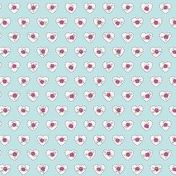 Penny Rose Fabrics ~ Little Dolly ~ Dolly Hearts Blue
