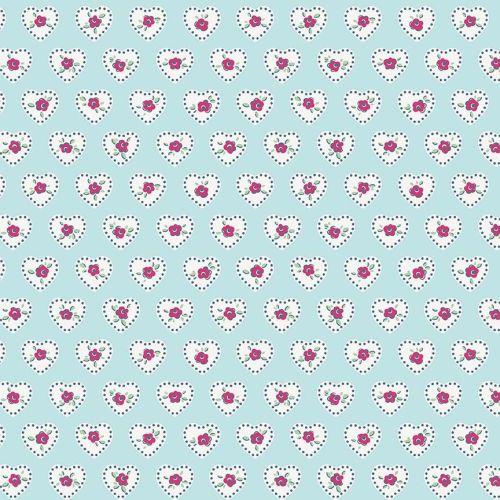 Penny Rose Fabrics ~ Little Dolly ~ Dolly Hearts Blue