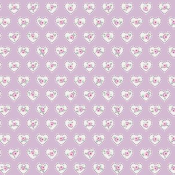 Penny Rose Fabrics ~ Little Dolly ~ Dolly Hearts Lilac